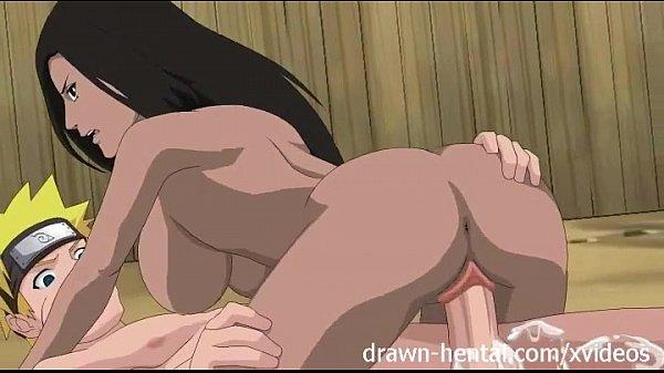 Seu hentai morena cavalona sentando com vontade em cima do pau grande do nosso querido Naruto